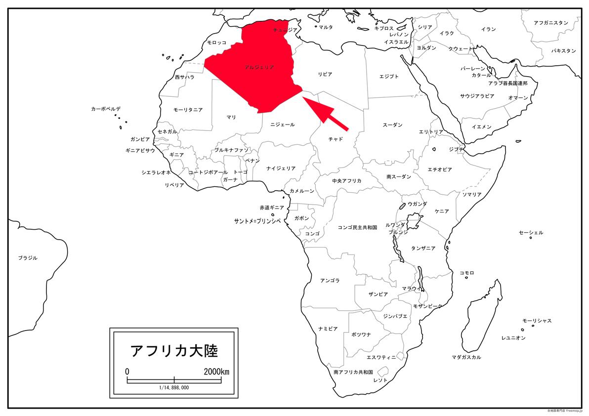 アルジェリアの位置